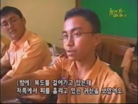 Salah seorang siswa (Mas Tegar, 3 IPA 3) sedang diwawancarai