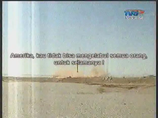 Salah satu cuplikan siaran TVRI Laporan Internasional 14 Maret 2010