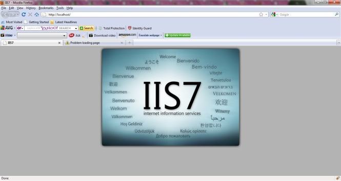 http://localhost dengan IIS server