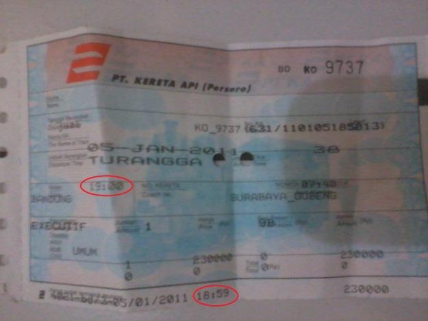 Tiket KA bersejarah :)