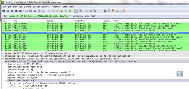 paket port scanning port 80
