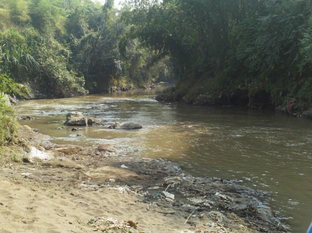 Posisi start rafting di sungai Cimanuk