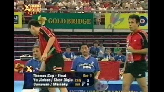 Screenshoot pertandingan Tony-Rexy di Thomas Cup 2000