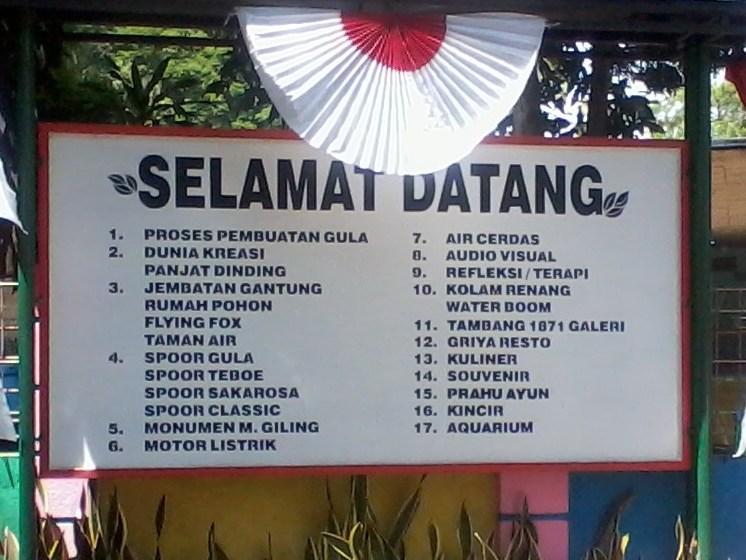 Daftar wahana di Sondokoro
