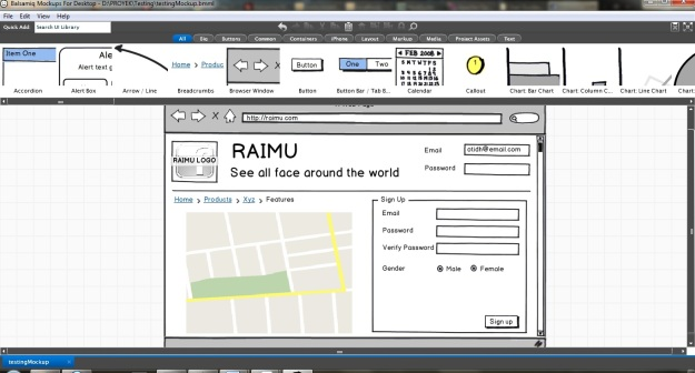Screenshoot Balsamiq