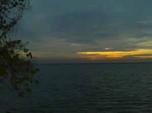 Sunset di barat Pulau Tidung