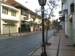 Jalanan Braga yang lengang