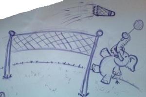 Badminton gajah