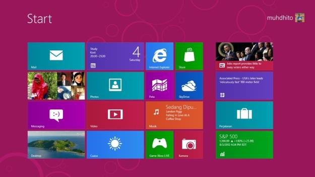Homscreen Windows 8