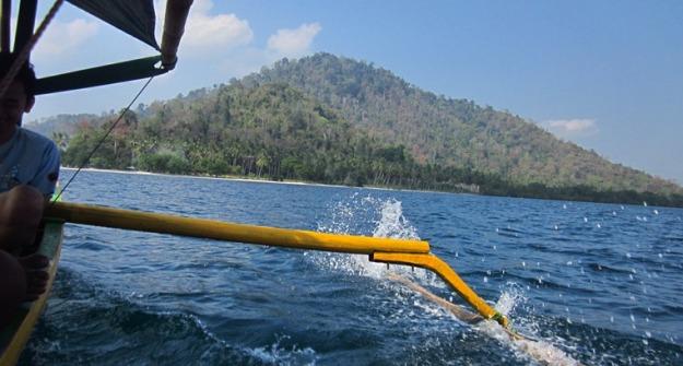 Menuju pulau Kelagian