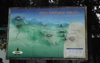 Peta kawasan wisata DIeng di kompleks Candi Arjuna