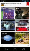 Tampilan Flipboard pada Android