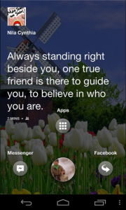 Pilihan menu Facebook Home
