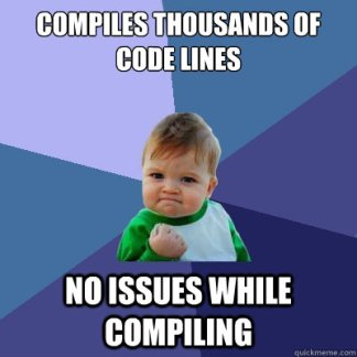 compile success meme