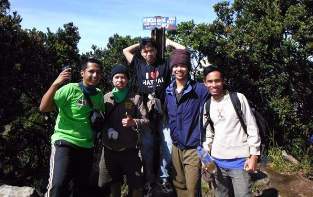 Di Puncak Gunung Gede 2958 mdpl