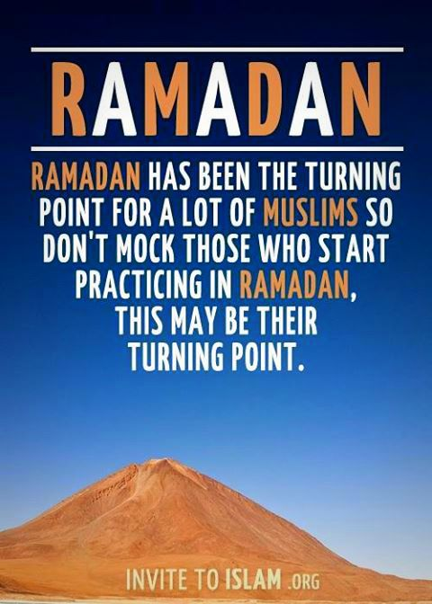 Ramadan as turning point