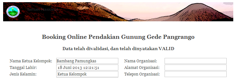 Mengurus Perizinan Pendakian Gunung Gede (2/2)