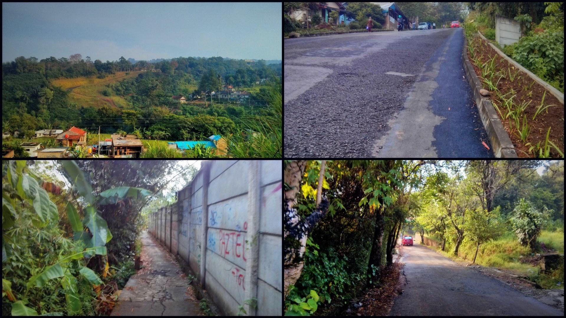 Pemandangan jalan dan sekitar yang dilalui