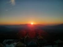 View Sunrise di Puncak Darajat