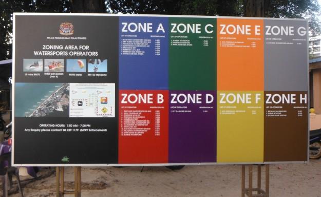 Zona-zona permainan air di Batu Ferringhi