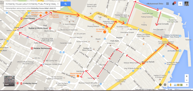 Rute jalan kaki ane menyusuri Georgetown