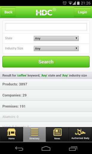 """Jumlah hasil pencarian dengan keyword """"coffee"""""""