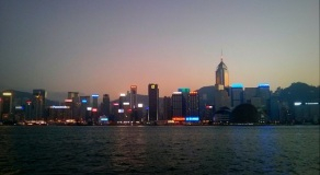 Hong Kong (Wanchai) menjelang senja