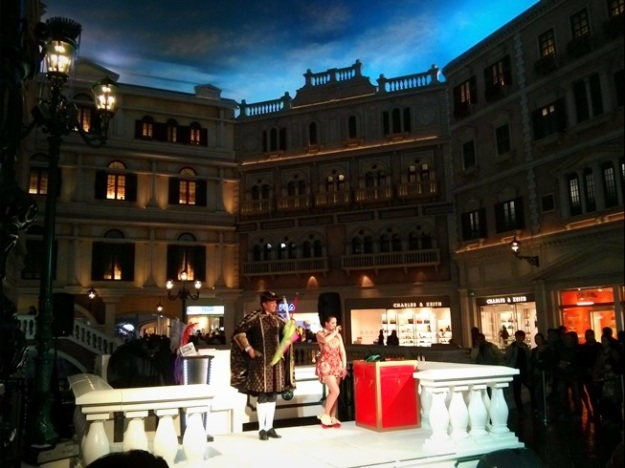 Pertunjukan sulap di The Venetian