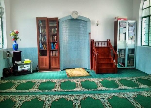 Interior dalam Masjid Makau