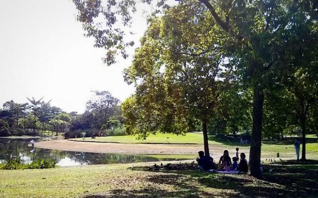 Gelar tikar di taman
