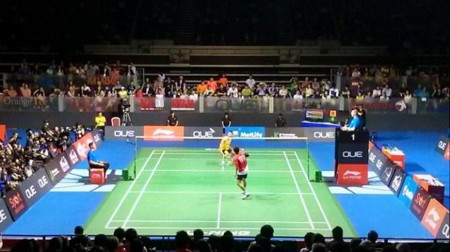 Adu netting antara Lee Chong Wei dan Simon Santoso
