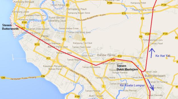 Rute kereta api dari KL menuju Hat Yai