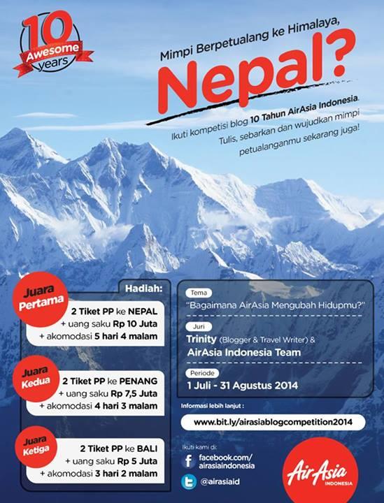 Poster pengumuman Kompetisi Blog AirAsia