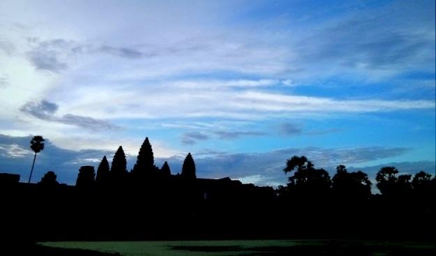Siluet Angkor Wat