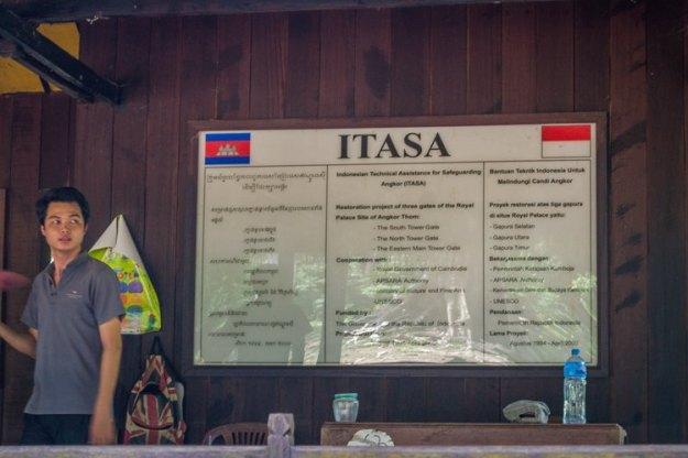 Sekretariat ITASA Cambodia-Indonesia (photo by Ian)