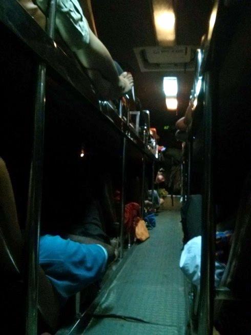 Formasi tempat tidur penumpang bus Virak Buntham