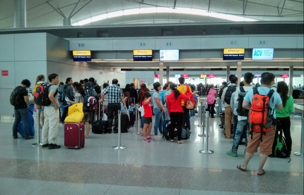 Check-in di counter Tigerair