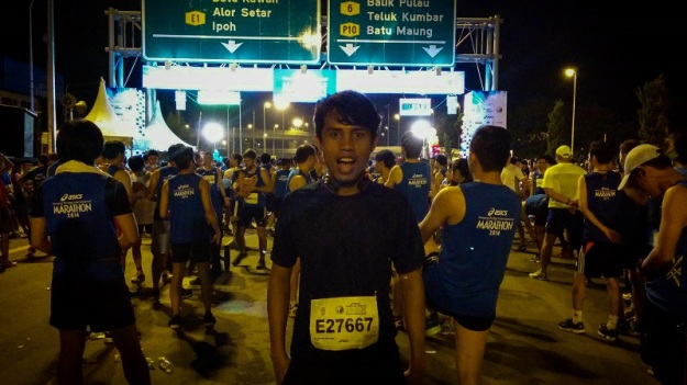 Khairul sebelum start lari