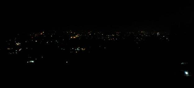 Gemerlap lampu Kota Bandung tampak dari Lisung