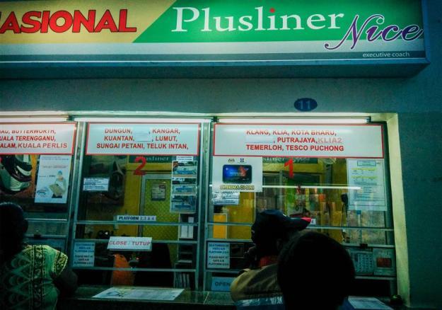 Loket Bus Transnasional di Melaka Sentral