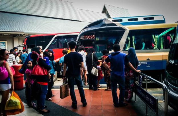 Platform bus di Melaka Sentral