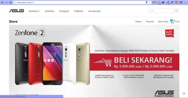 Website ASUS Store
