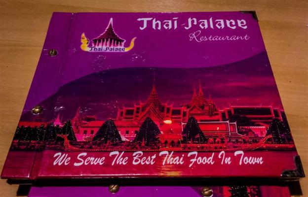 Buku Menu Thai Palace