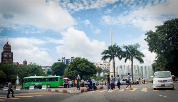 Downtown kota Yangon