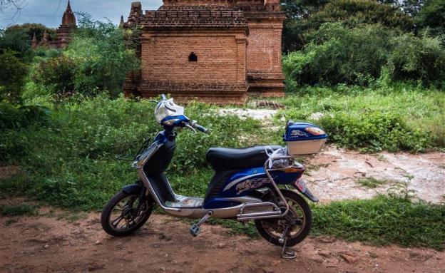 e-Bike yang saya sewa di Bagan