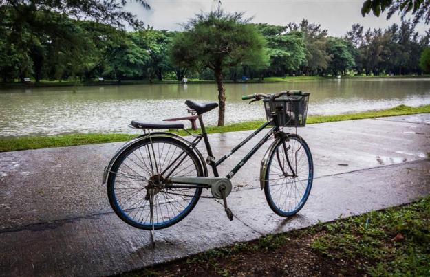 Sepeda onthel yang menemani keliling National Races Village