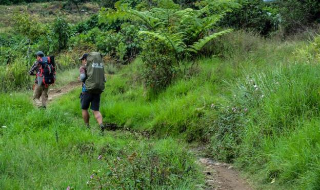 Hiking to Mount Gede (photo by Ferdian)