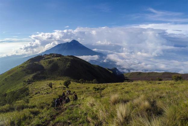 View Sabana 1 dan Gunung Merapi di kejauhan