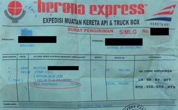 kwitansi herona express