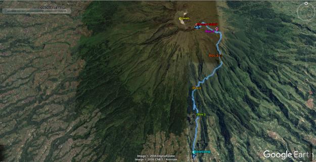 Rute pendakian Gunung Sumbing